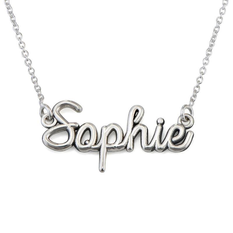 Håndskrift halskæde med navn i sterlingsølv