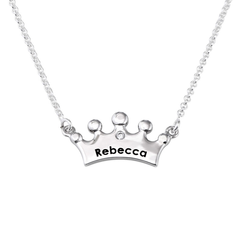 Prinsessekrone halskæde til piger med CZ