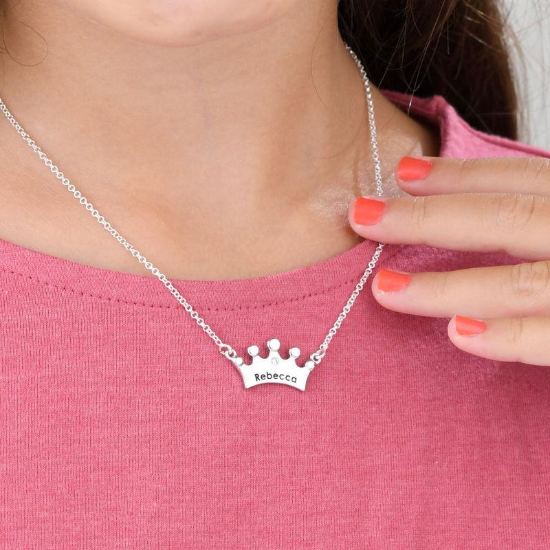 Prinsessekrone halskæde til piger med CZ - 2