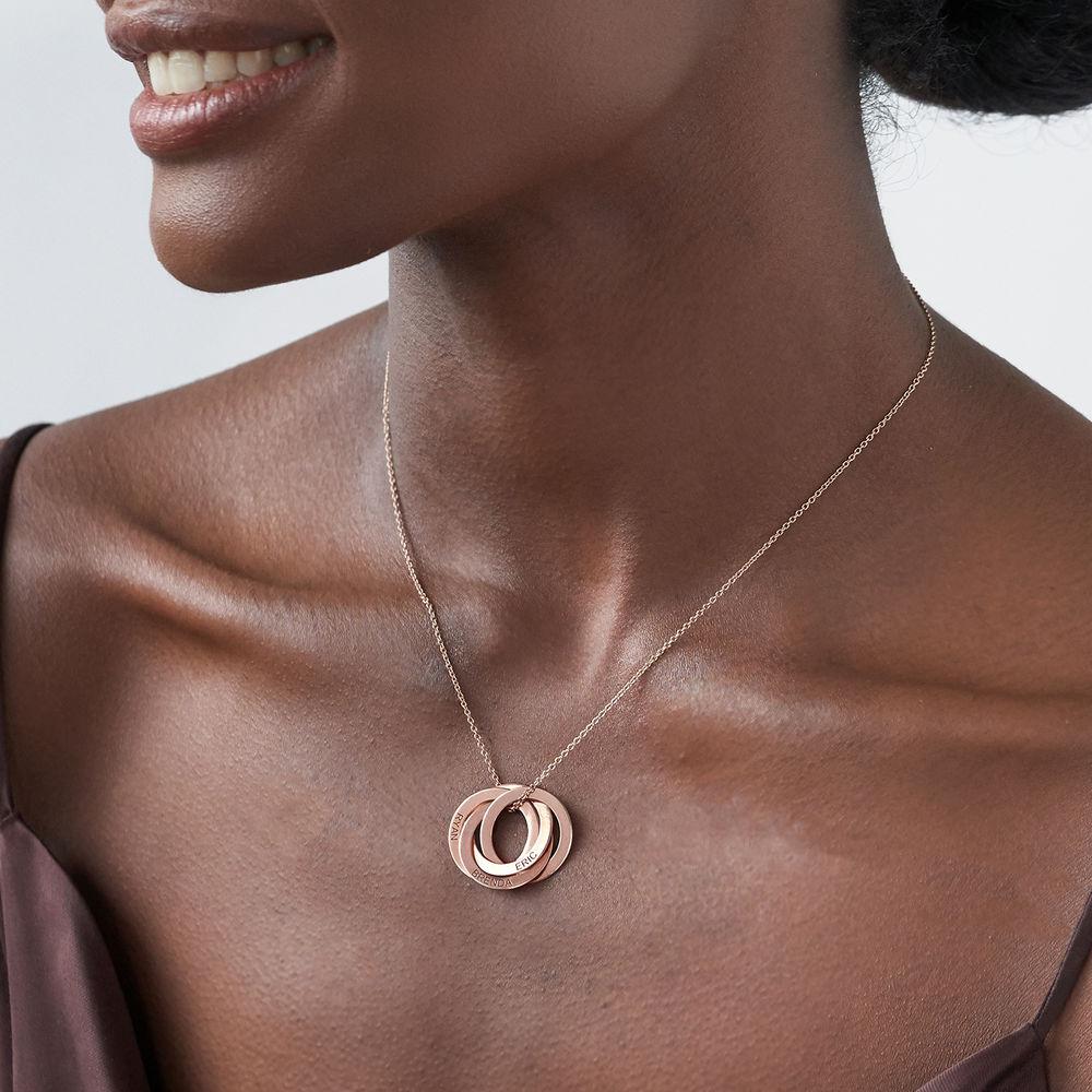 4 russisk ring-halskæde i rosaforgyldt sølv - 2