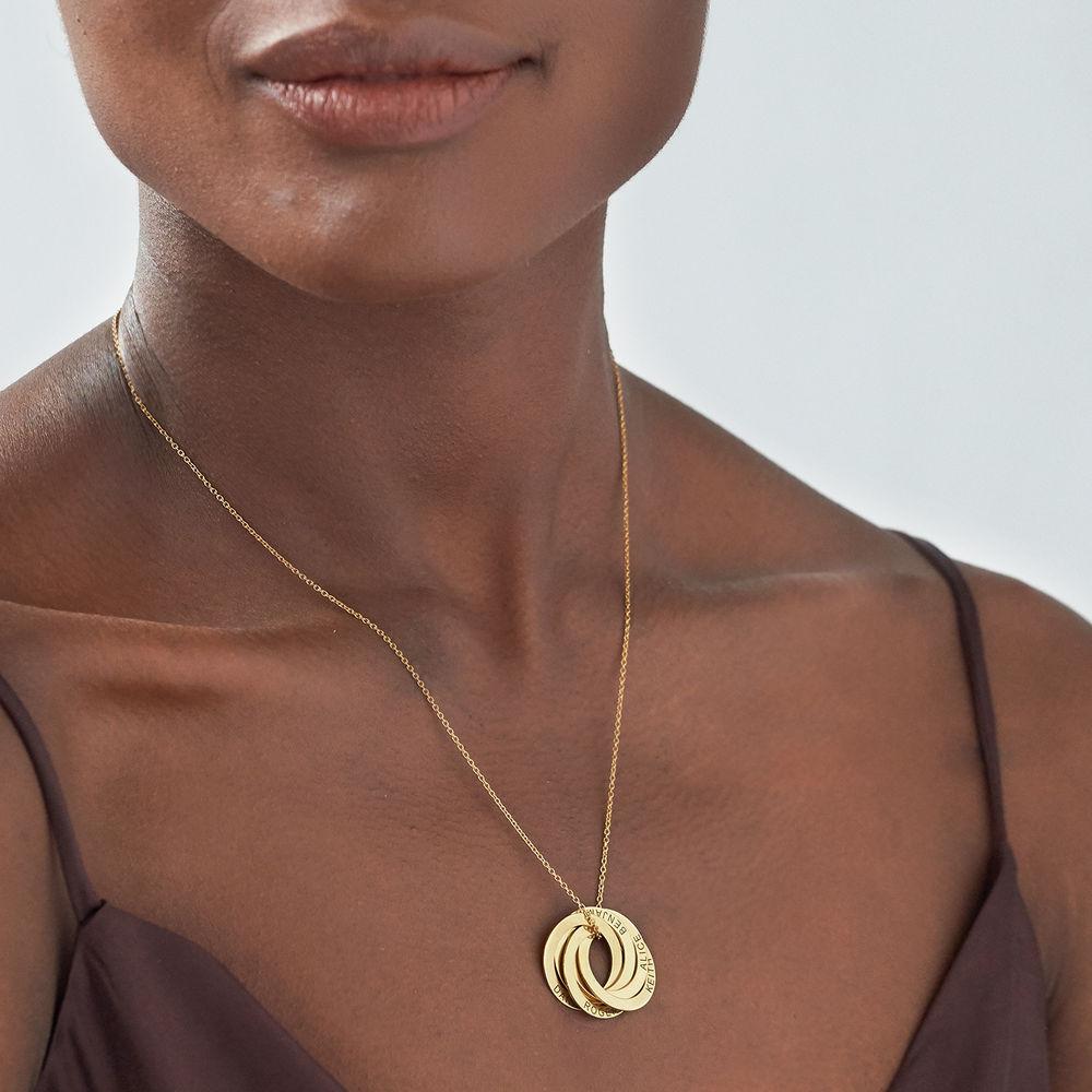 5 russisk ring-halskæde i forgyldt sølv - 2