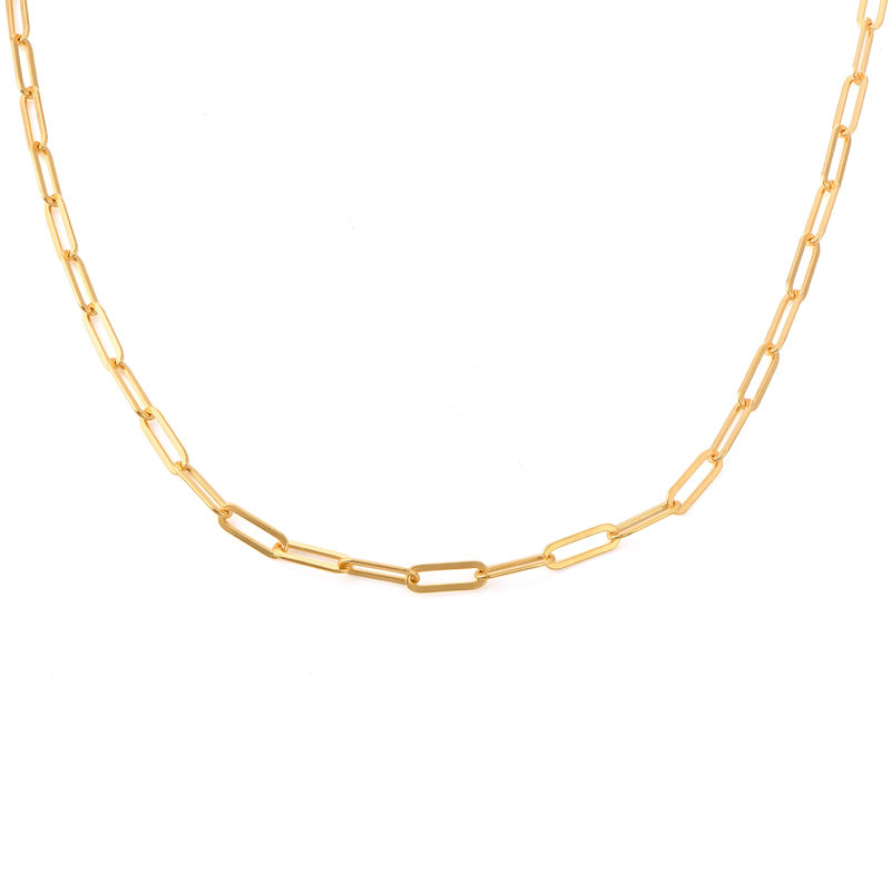 Link halskæde i18kt. guld vermeil