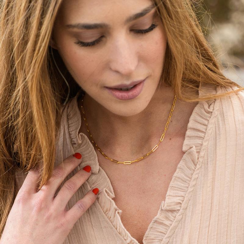 Link halskæde i18kt. guld vermeil - 1