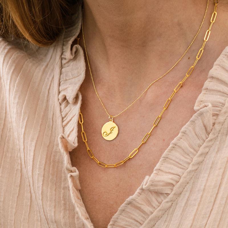 Link halskæde i18kt. guld vermeil - 2