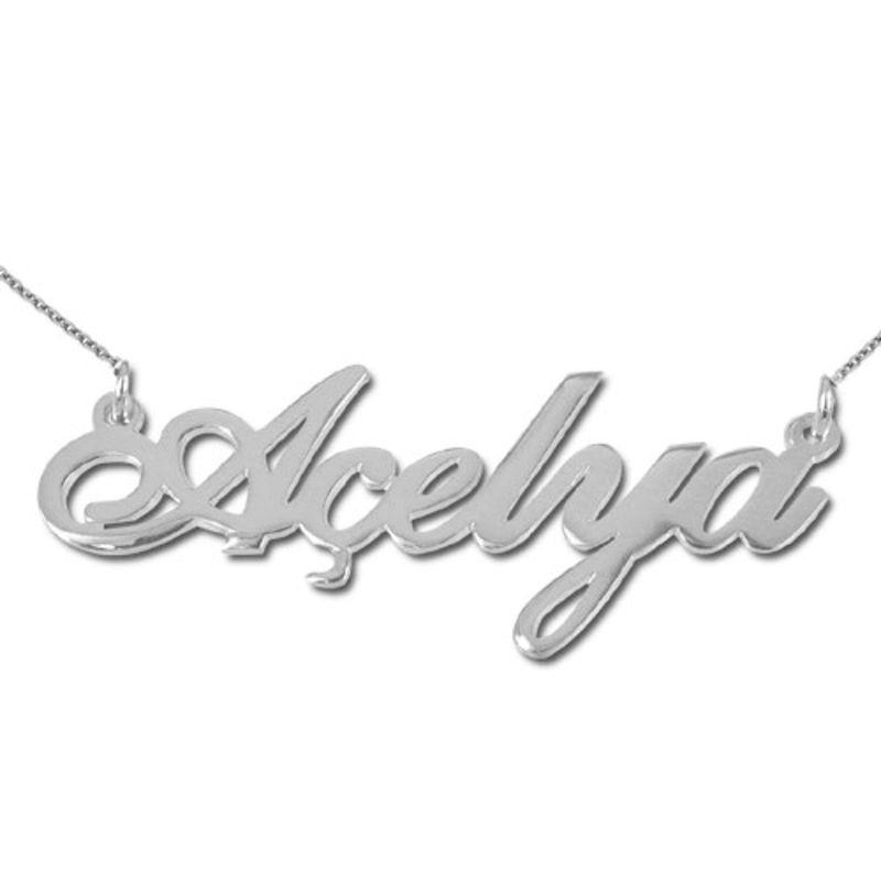 isim kolye - tyrkisk navnehalskæde i sølv