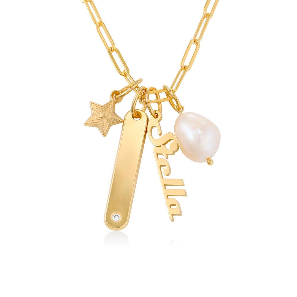 Siena stavhalskæde i guld vermeil  - 1