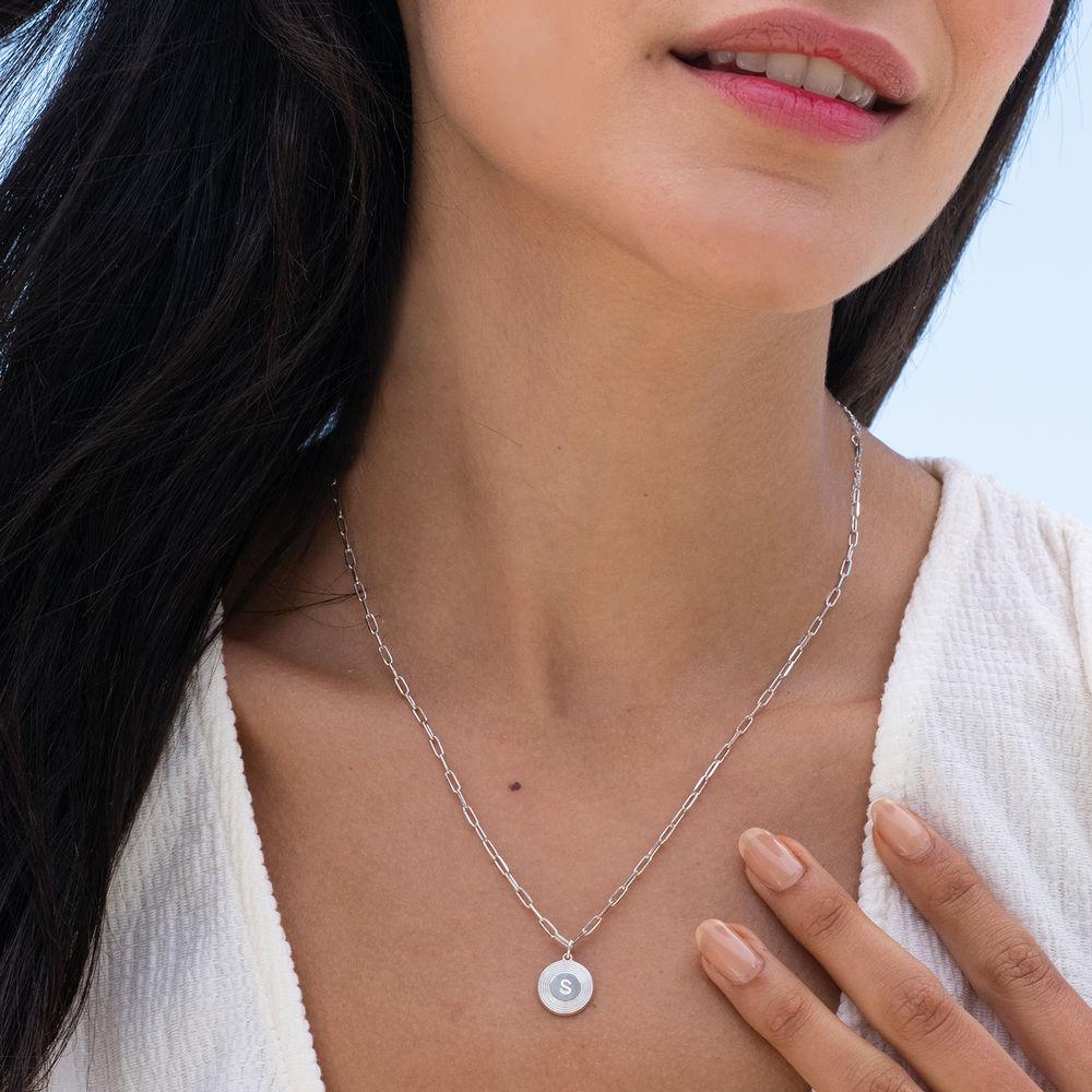 Odeion halskæde med bogstav i sterlingsølv - 1