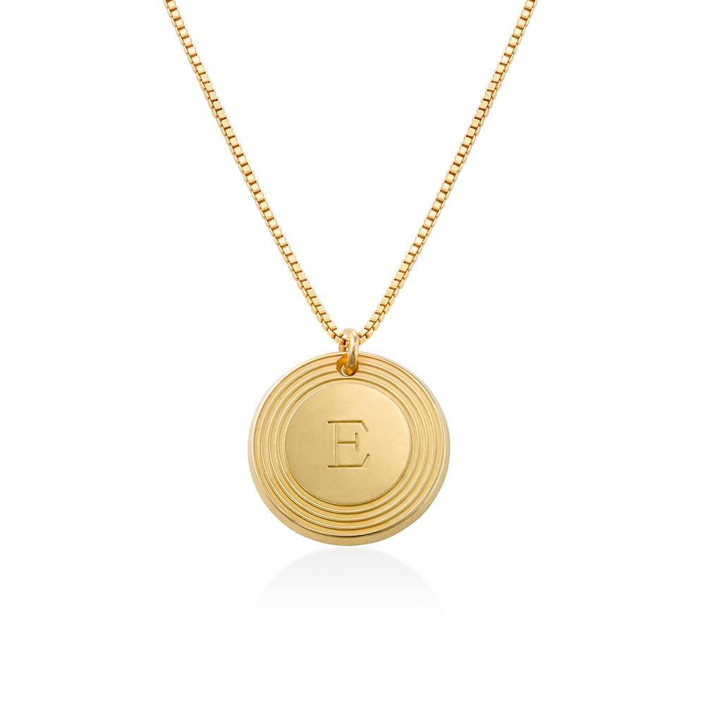 Fontana halskæde med bogstav i guld vermeil