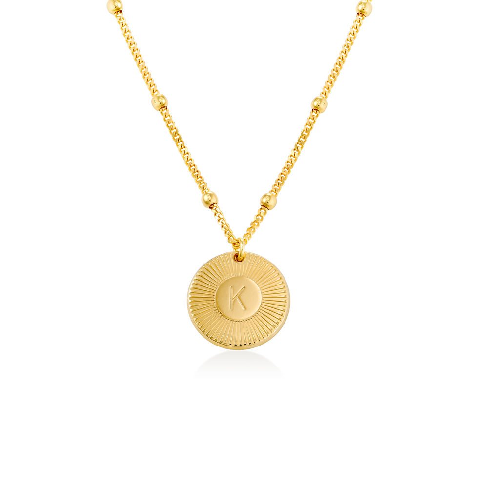 Rayos halskæde med bogstav i guld vermeil