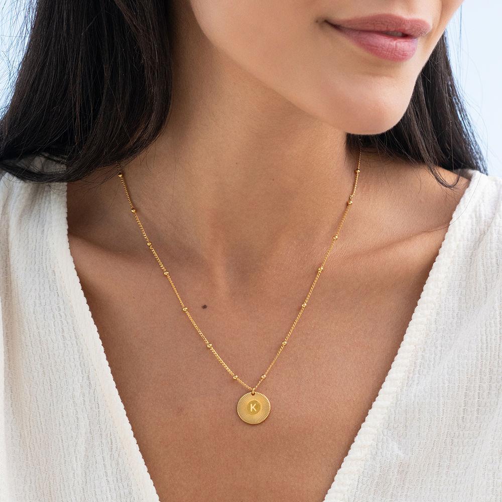 Rayos halskæde med bogstav i guld vermeil - 1