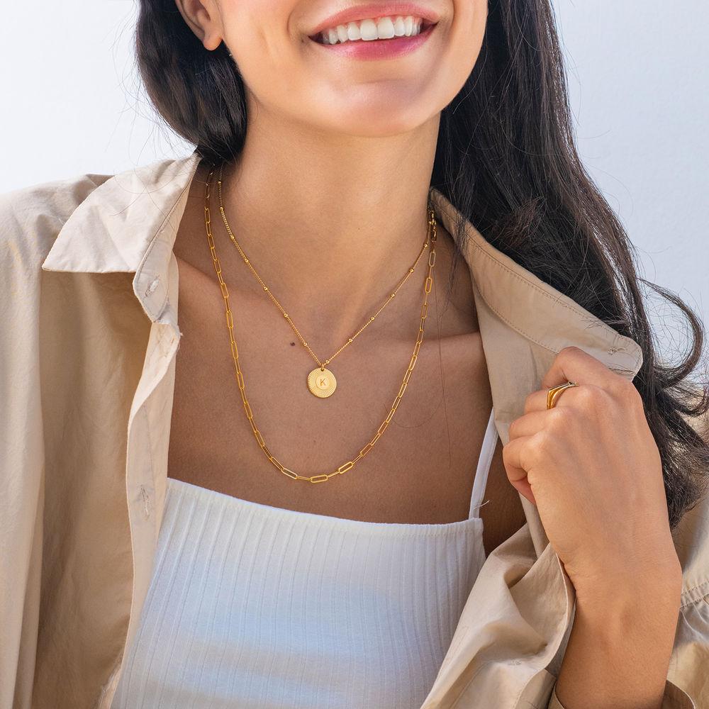 Rayos halskæde med bogstav i guld vermeil - 2