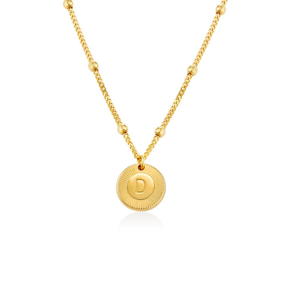 Mini Rayos halskæde med bogstav i guld vermeil