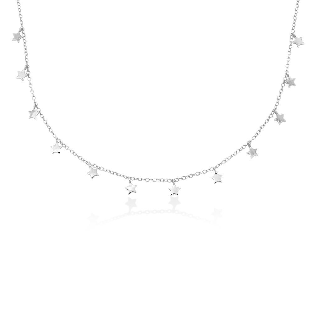 Stjerne halskæde i sølv