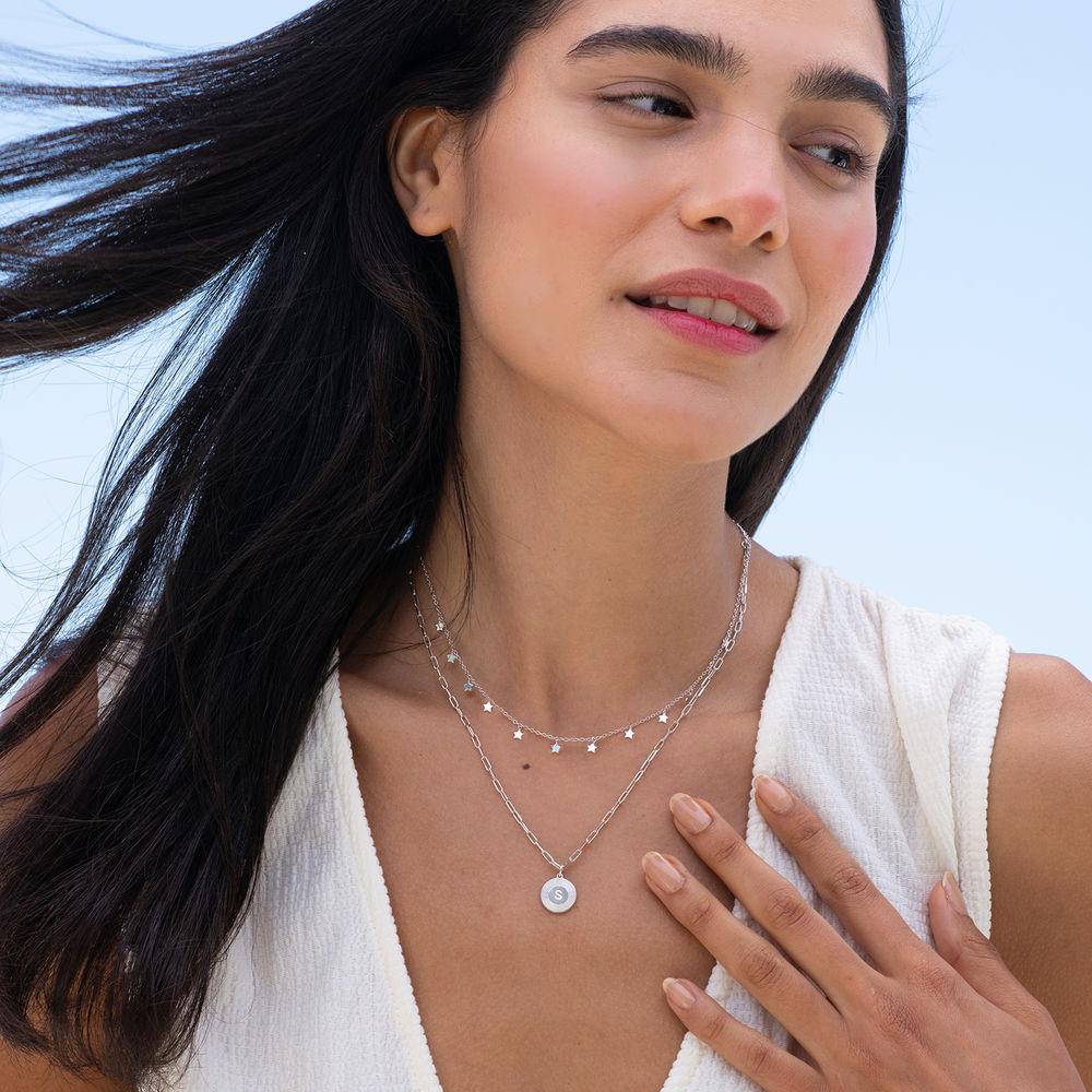Stjerne halskæde i sølv - 3