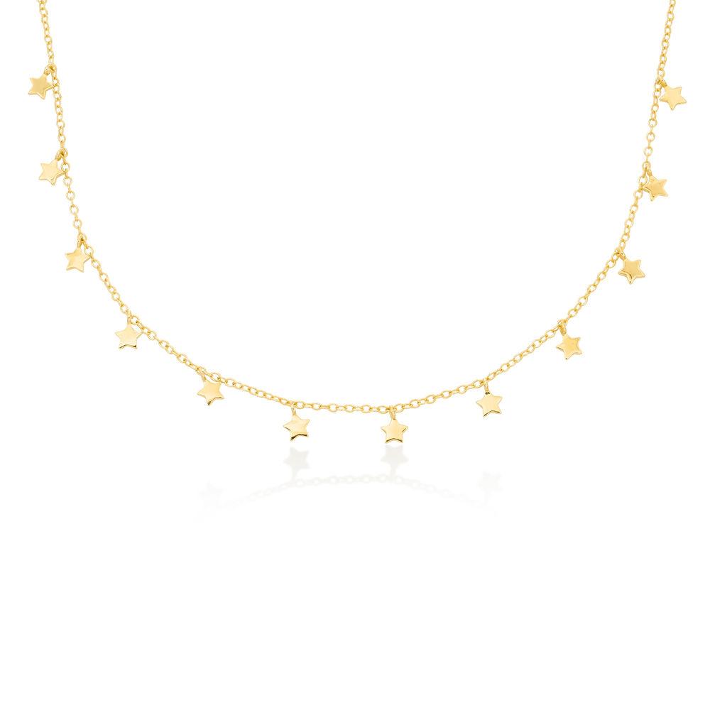 Stjerne halskæde - rosaforgyldt