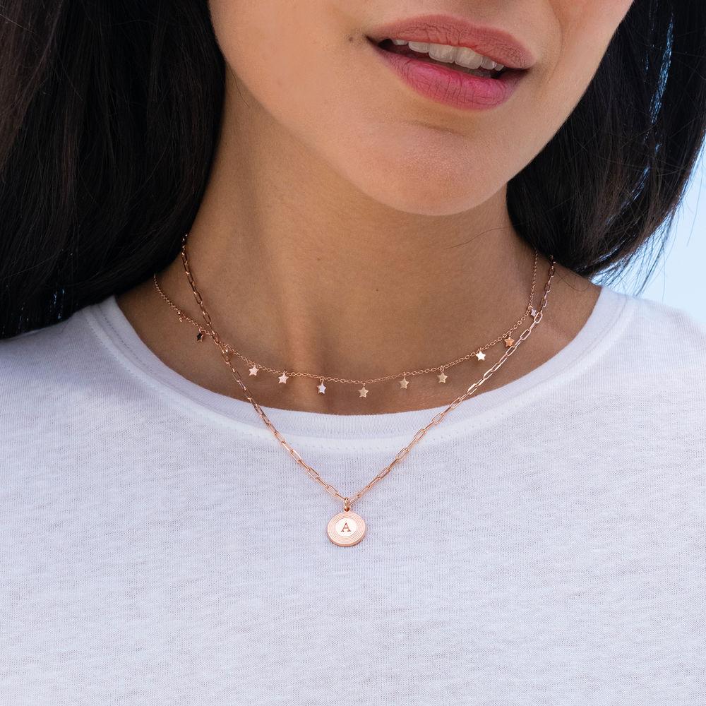 Stjerne halskæde - forgyldt - 2