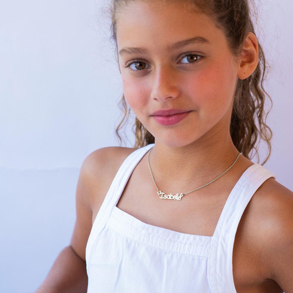 Halskæde med navn til piger i sterlingsølv  - 2