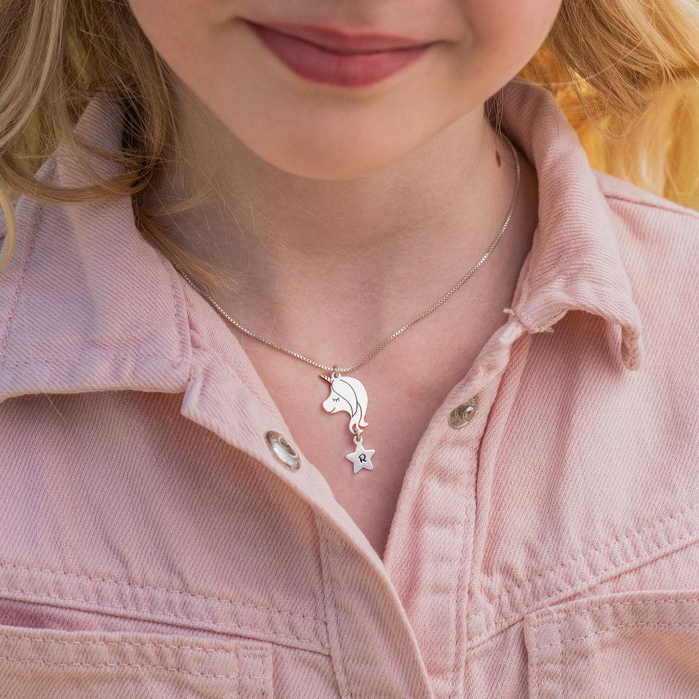 Enhjørning halskæde til piger i sterlingsølv - 1