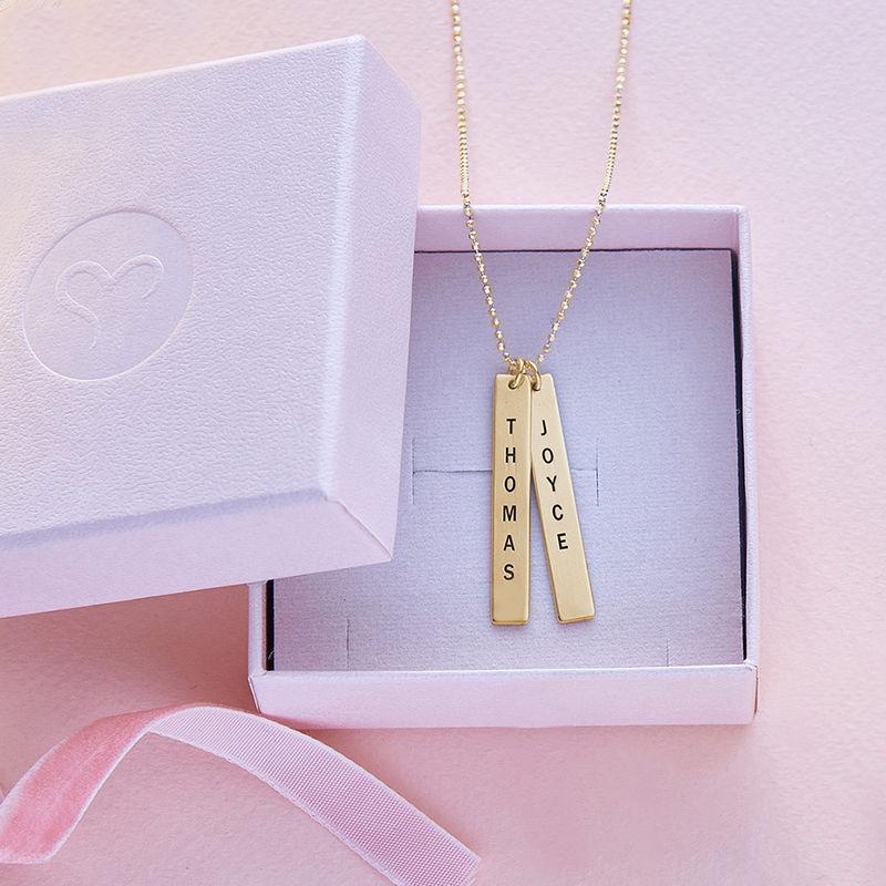 Navneplade halskæde med gravering i 10 karat guld - 4