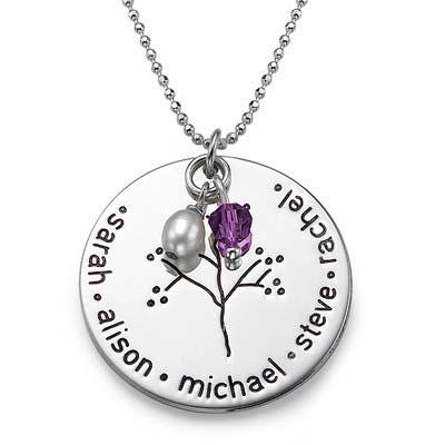 Halssmykke i sølv med familietræ - 2