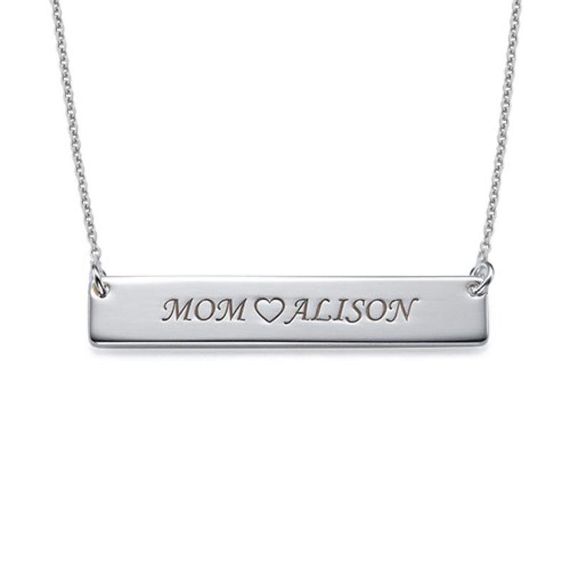 Halssmykke i sølv med navneplade - 1