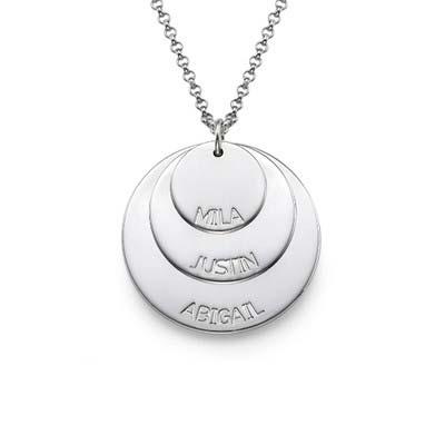 Morshalskæde i sølv med børnenavn