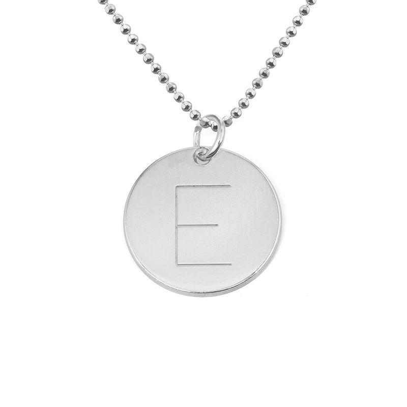 Halskæde med bogstav i sølv