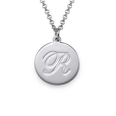 Initial halskæde med kursiv skrift i sølv