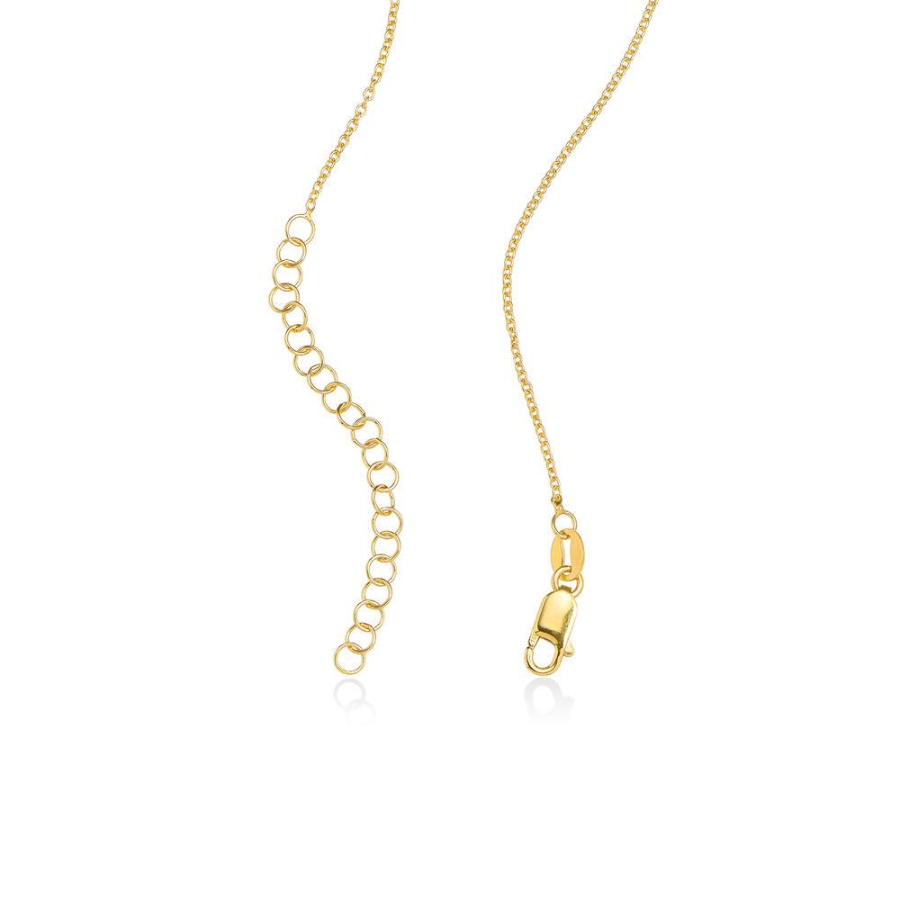 Hjerte i hjerte halskæde med månedssten i forgyldt sølv - 4