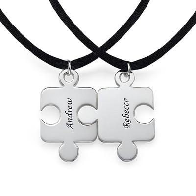 Puslebrik-halskæde for Par med Månedsten - 1