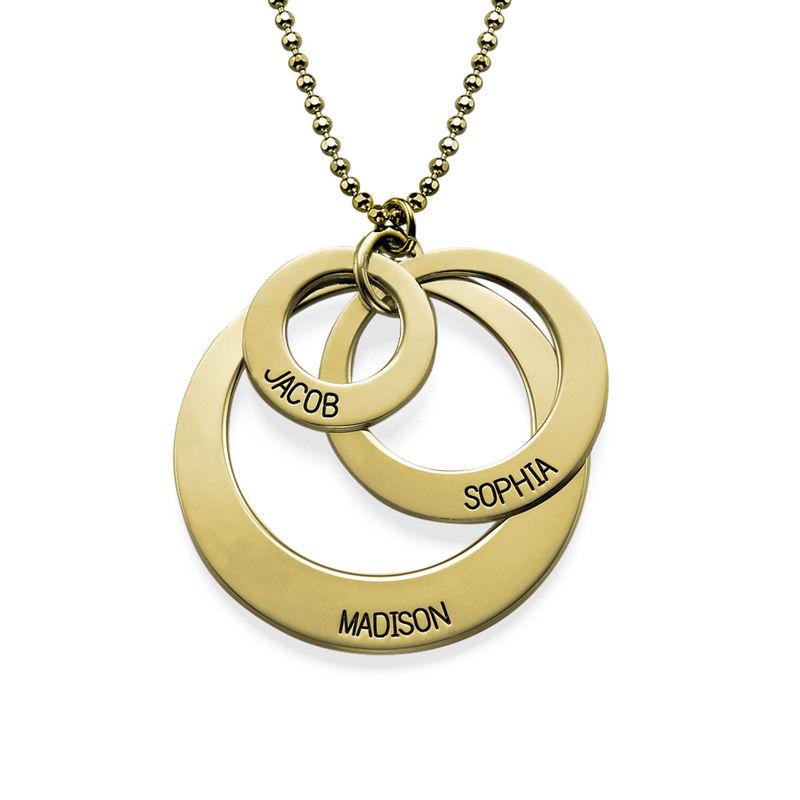 Morsmykke med tre cirkler og indgravering i 10 karat guld - 1