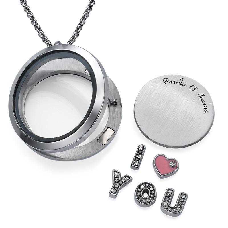 I LOVE YOU-Medaljon med Løse Lykkecharms - 1