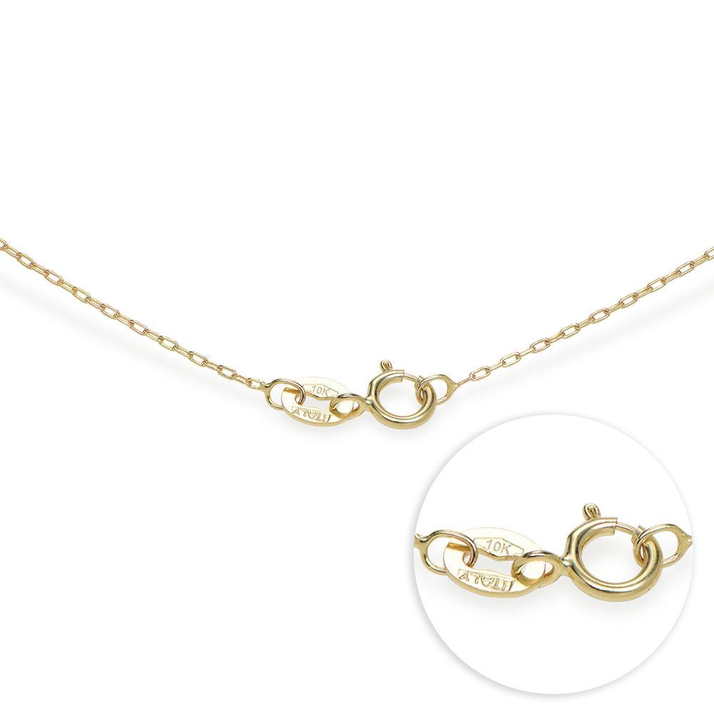 Hjerte halskæde med gravering og fødselssten i 10 karat guld - 4