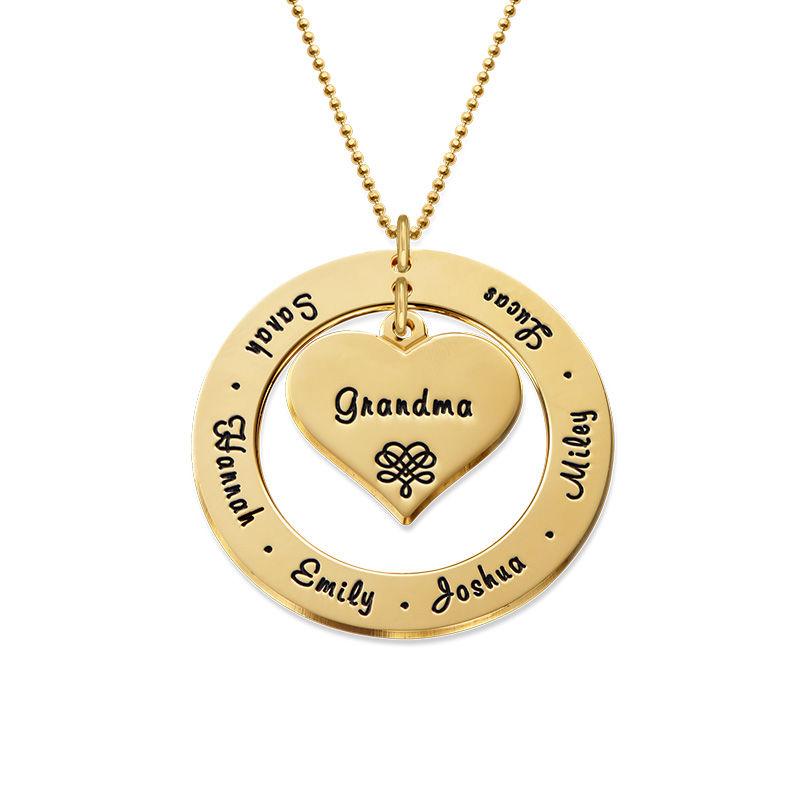 Familie halskæde i 10 karat guld