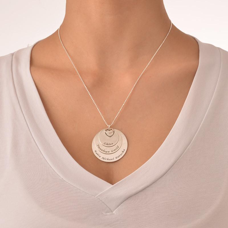 Mor halskæde med navne indgraveret i sølv - 2