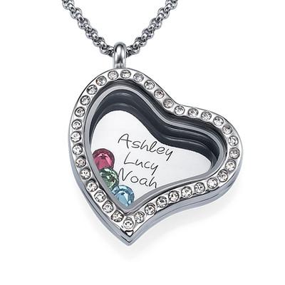 En Moders Kærlighed-Medaljon med Løse Lykkecharms - 1