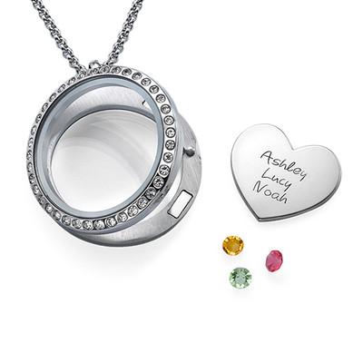 En Moders Kærlighed-Medaljon med Løse Lykkecharms - 2