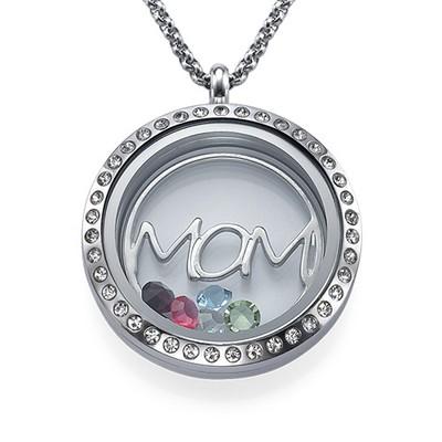 Modersmedaljon med Løse Lykkecharms