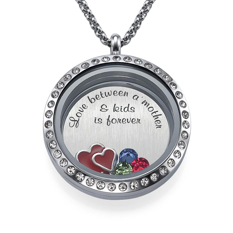 Love My Children-Medaljon med Løse Lykkecharms