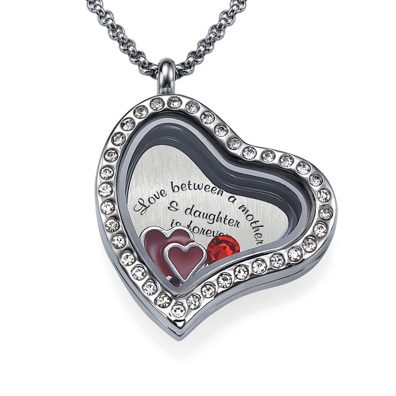 Love My Children-Medaljon med Løse Lykkecharms - 1