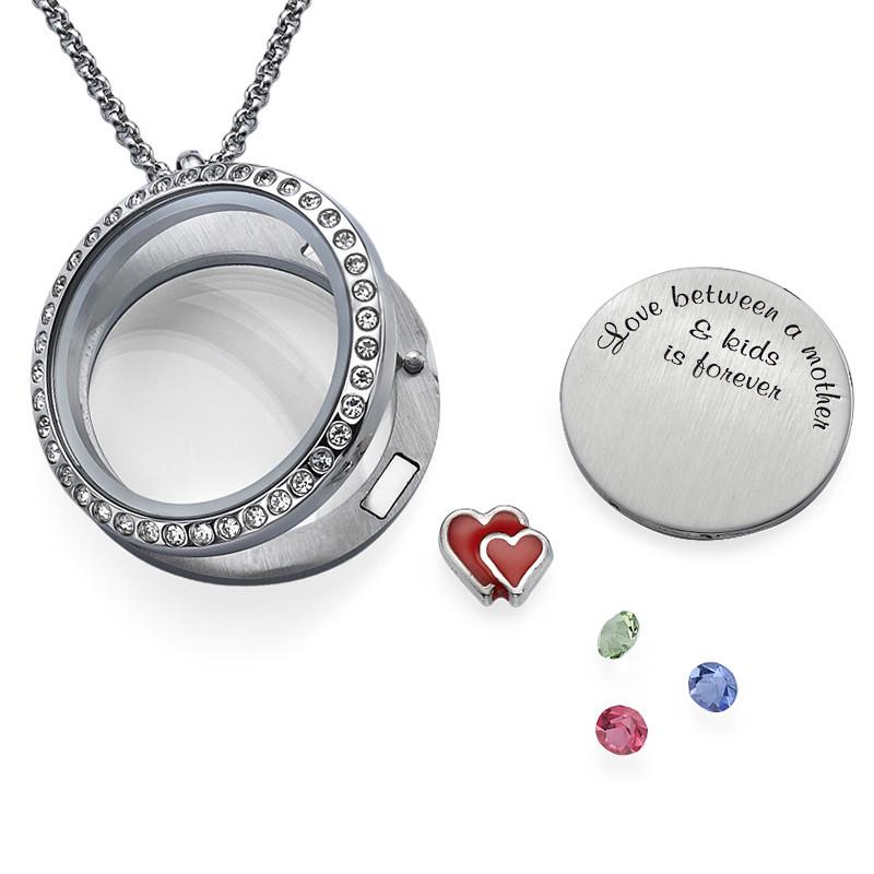 Love My Children-Medaljon med Løse Lykkecharms - 2