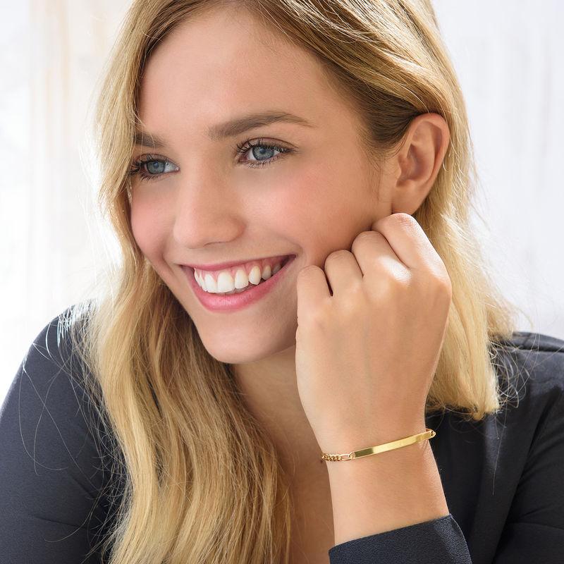 id armbånd til kvinder belagt med guld - 2