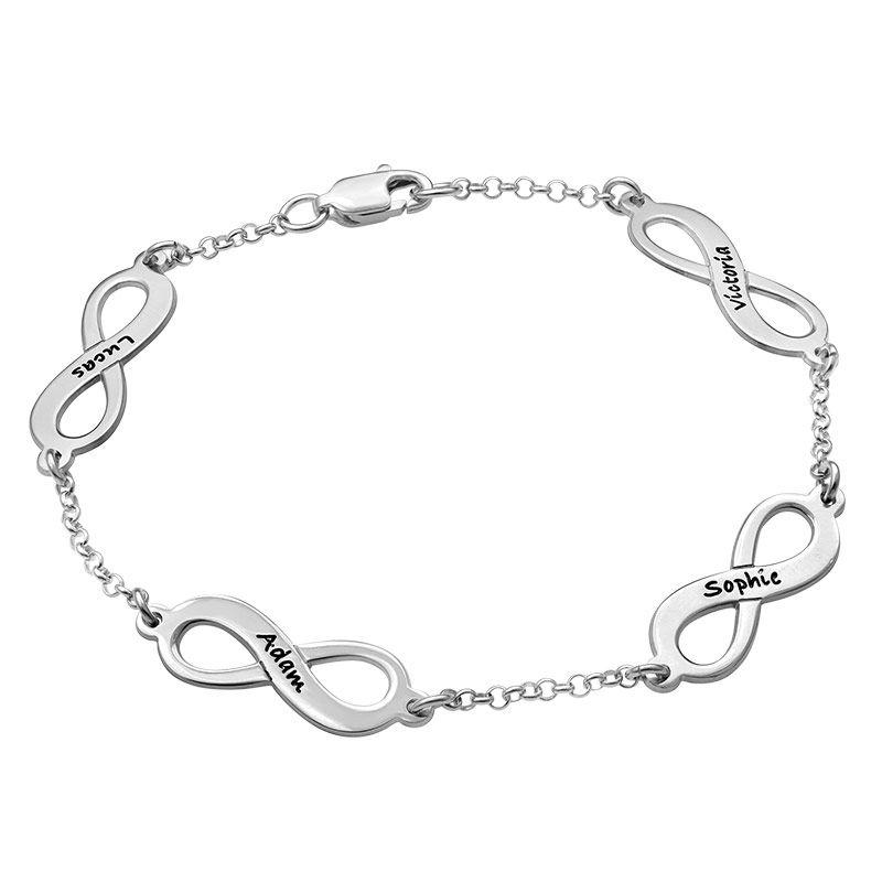 Infinity armbånd til mor med navn i sølv - 2