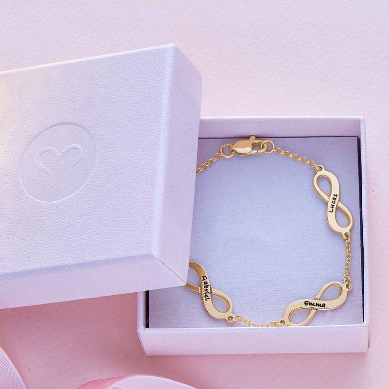 Infinity armbånd til mor med navn i guld vermeil - 5