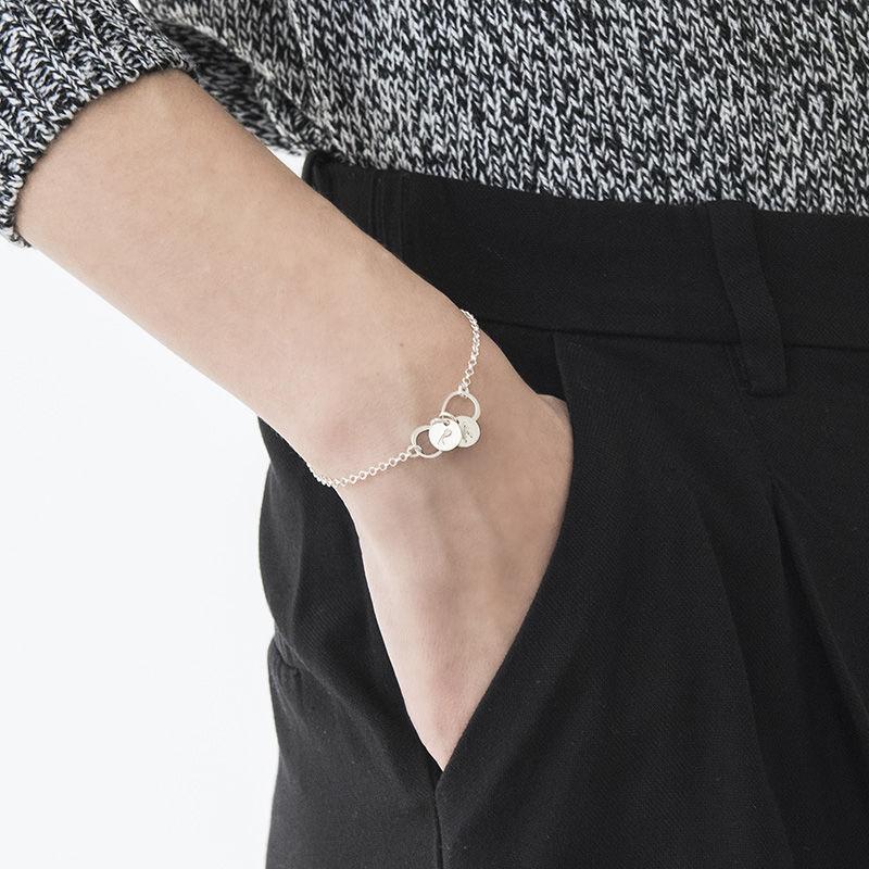 Infinity armbånd / ankelkæde med bogstav vedhæng - 2