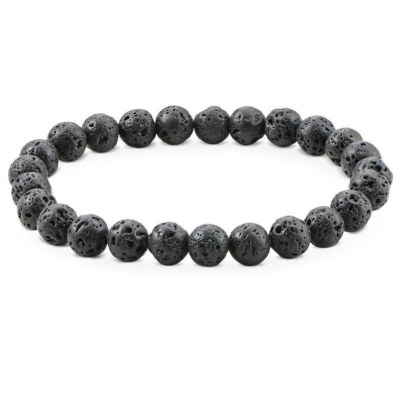 Tigerøje armbånd til mænd - mørke perler