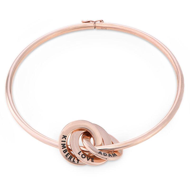 Russisk ring bangle armbånd belagt med rosaguld
