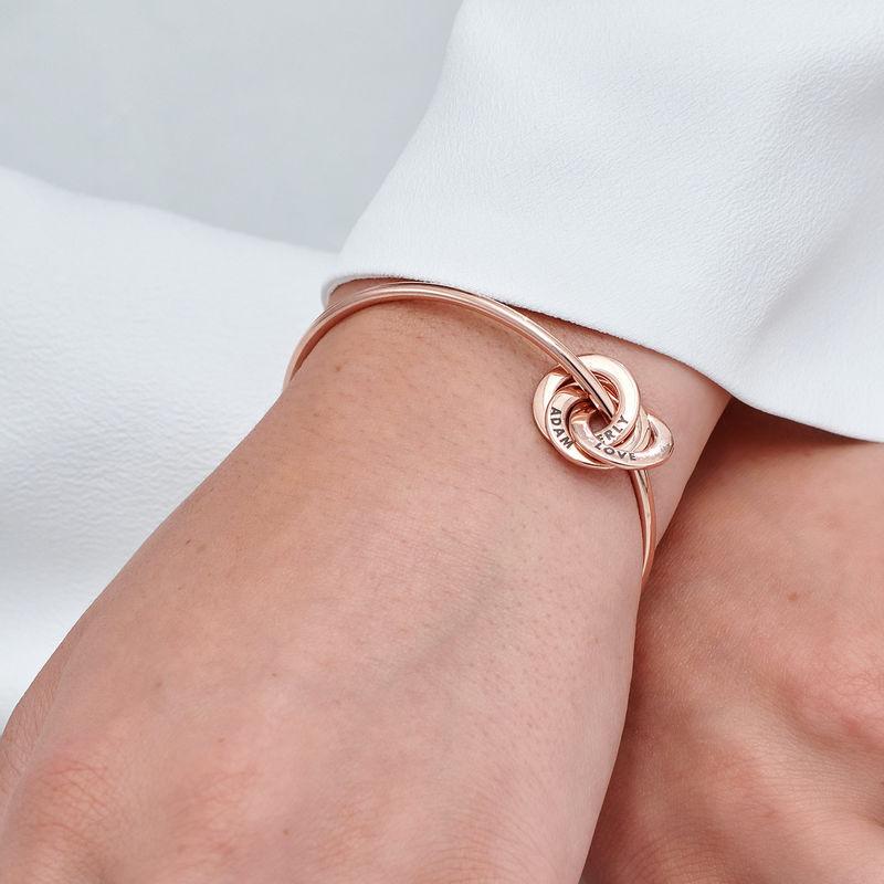 Russisk ring bangle armbånd belagt med rosaguld - 4