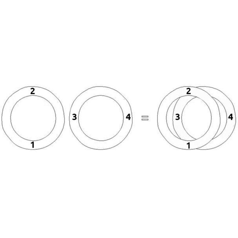 Cirkel armbånd til mænd med snorrerem - 4