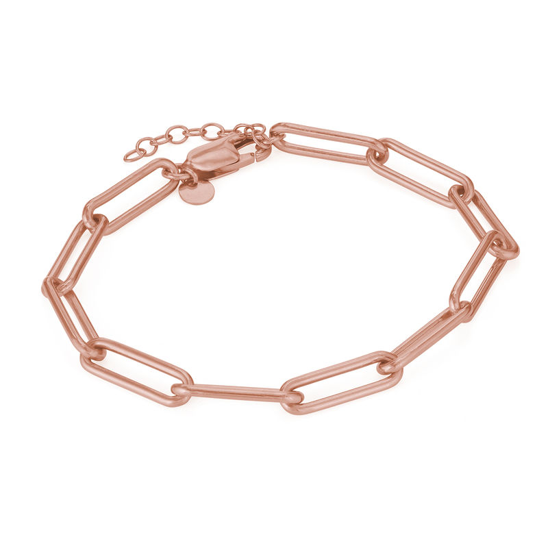 Link armbånd i 18kt. rosaforgyldt sølv